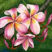 гуашь тропические цветы