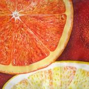 апельсины - горячий батик , Надежда Осадченко, Надежда, Батик, батик Надежда
