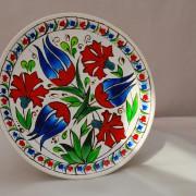 роспись по стеклу тарелка турецкие тюльпаны