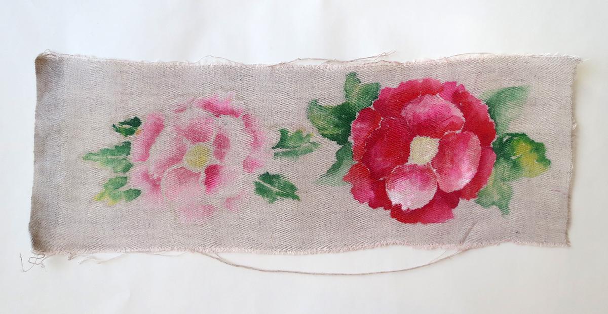 лен, лён, льняная ткань, краски по ткани, краски по шелку, акриловые краски, ткань, рисовать, льняное платье, стирка, окраска ткани.