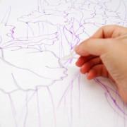 Наведение резерва для росписи в технике холодный батик