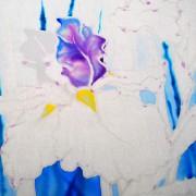 роспись ириса в технике холодного батика