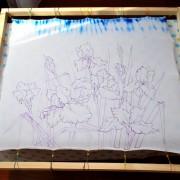 перенос эскиза для холодного батика на ткань