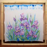 Роспись переднего полотна юбки в технике холодный батик