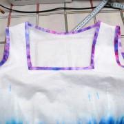 отделка платья косой бейки