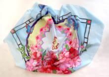 Платок батик, шелковый платок ручной росписи, шёлковый платок, бабочки, батик, цветы,