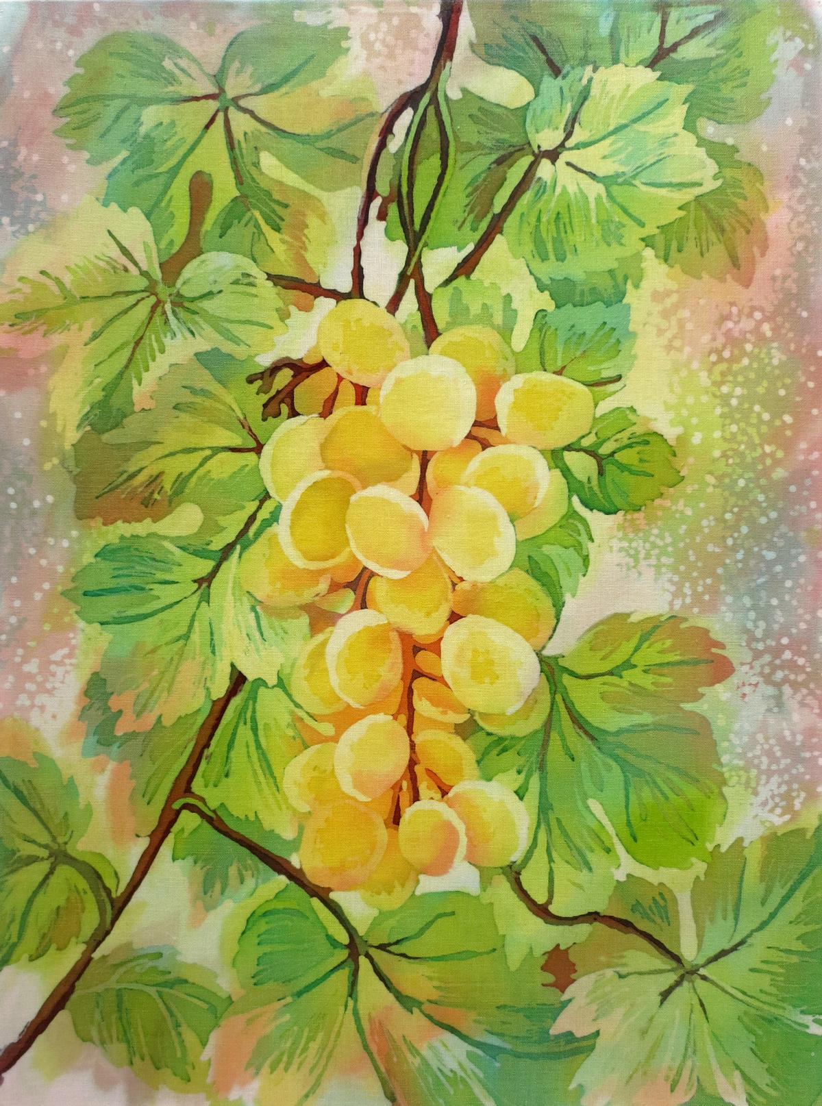 горячий батик виноград, желтый виноград, картина виноград, картина желтый виноград, батик виноград, горячий батик виноград,